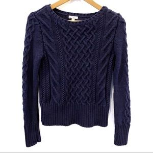 | Gap | cable knit navy blue pullover sweater Sz S